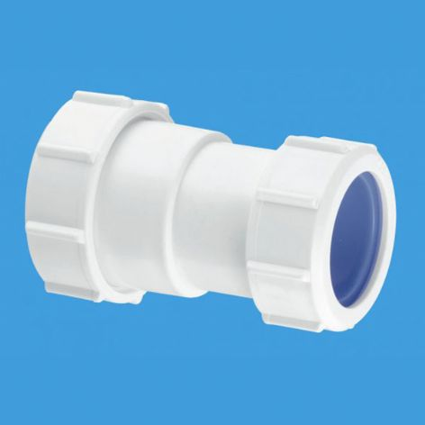 "ST28L-ISO 1 1/4"" Straight Connector Multifit x European pipe size x 40mm. McAlpine"
